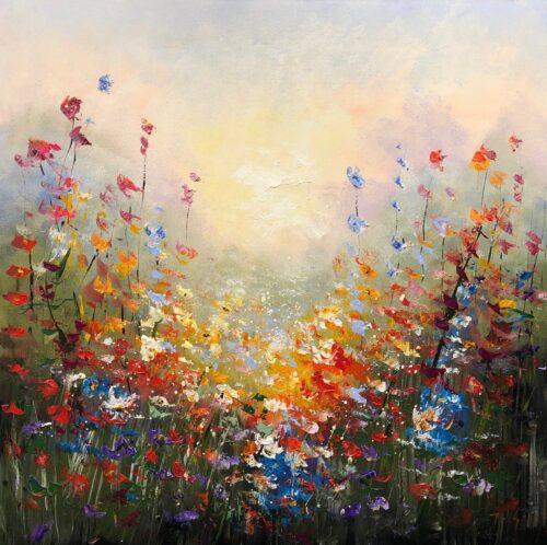 Jochem de Graaf schilderij 'Veldbloemen II'