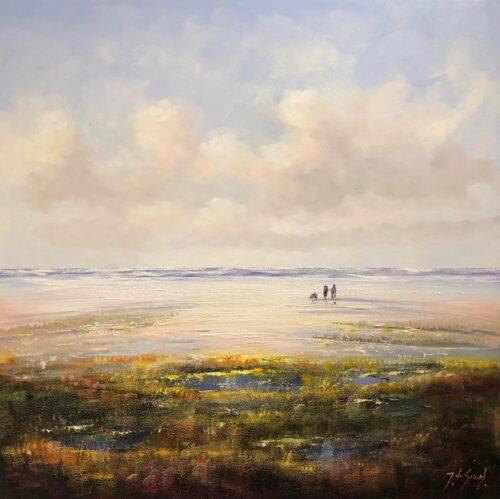 Jochem de Graaf schilderij 'Strand'