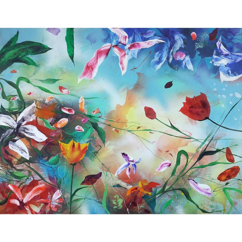 Plamen Bibeschkov schilderij 'Secret live of flowers V'