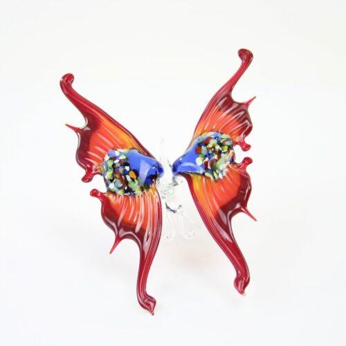 Loranto glazen beeld 'Vlinder rood'