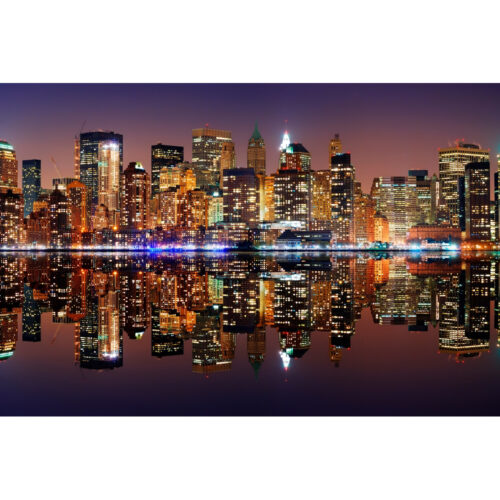 Foto op plexiglas 'New York with reflection'