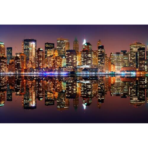 Foto op plexiglas 'New York with reflection'