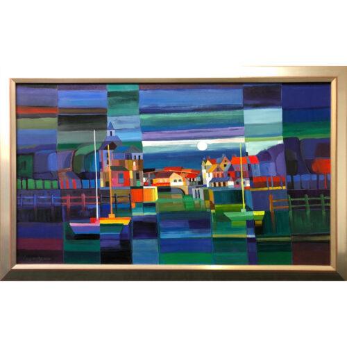 Lony Wing origineel schilderij 'Enkhuizen'