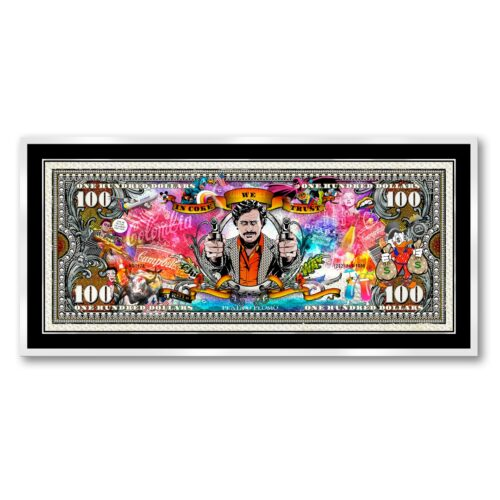 Michael Daniels POP-ART 'The Pablo Escobar 100 Dollars'