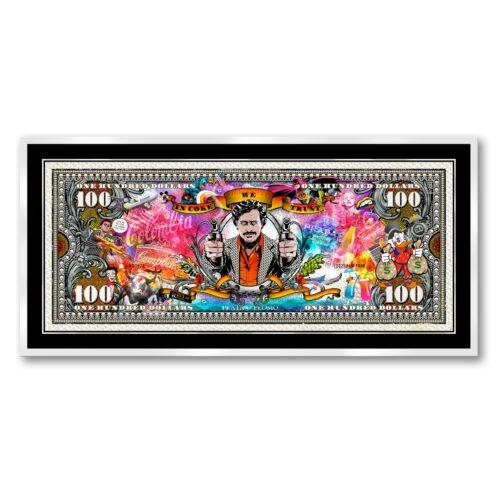 Michael Daniels POP-ART 'The Pablo Escobar 100 Dollars'