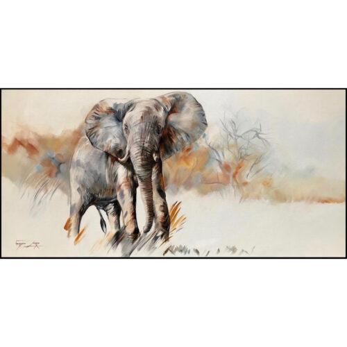 Vanessa Lomas schilderij 'Olifant'