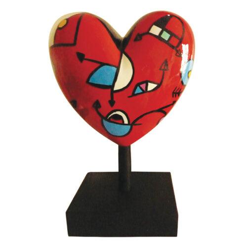Déesse beeld 'Missive Heart Miranda Red'