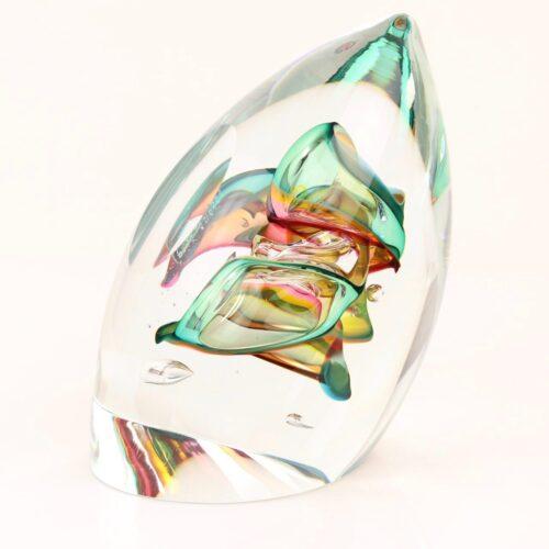 Loranto Ozzaro Boheems kristal glasobject 'Knot Gold'