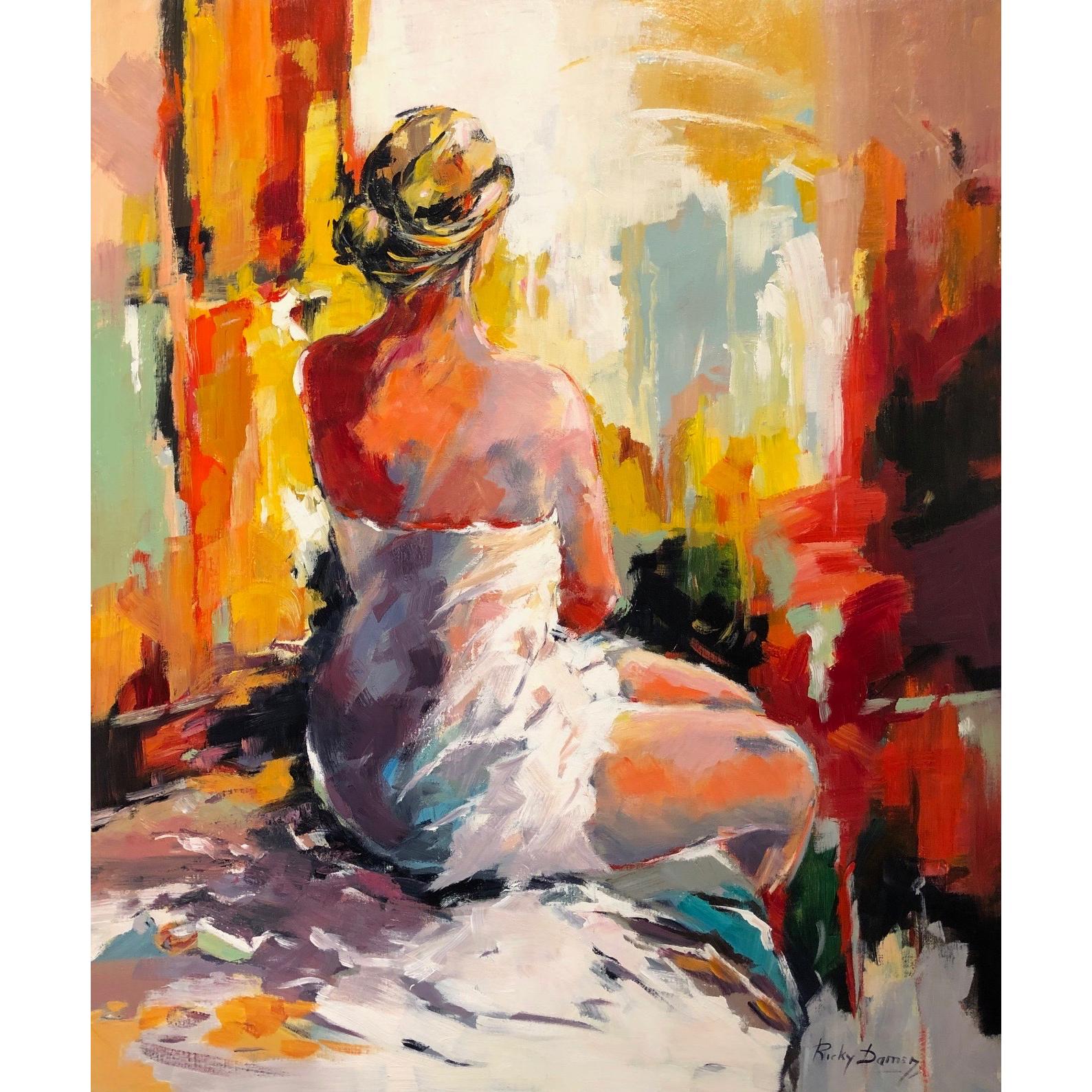 Ricky Damen schilderij 'Ontwaken'