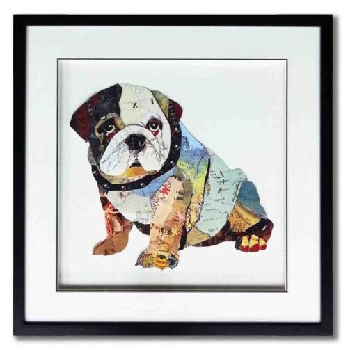 Schilderij Paper Art 'Hondje'