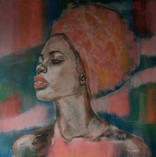 Coby Schot schilderij 'Nefertiti'