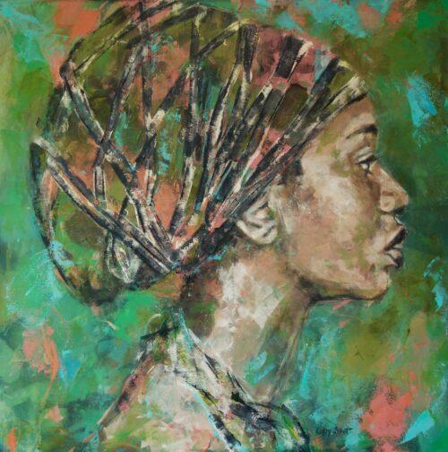 Coby Schot schilderij 'Odudua'
