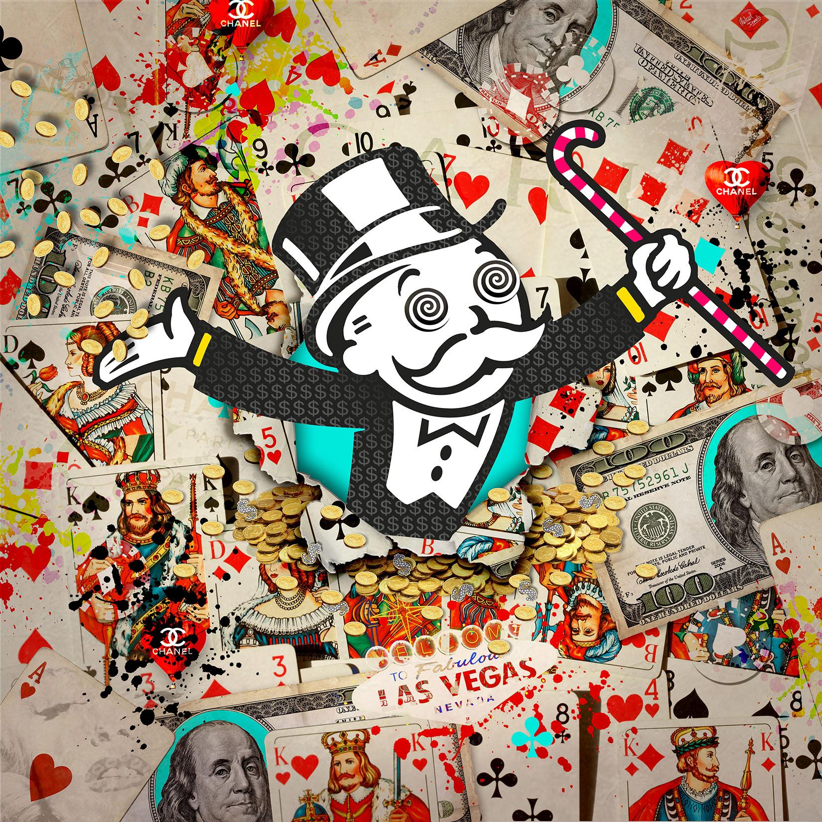 Michael Daniels schilderij 'Mr. Monopoly'