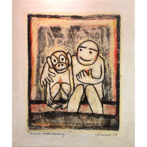 Hans Innemee schilderij 'Mutual understanding...'