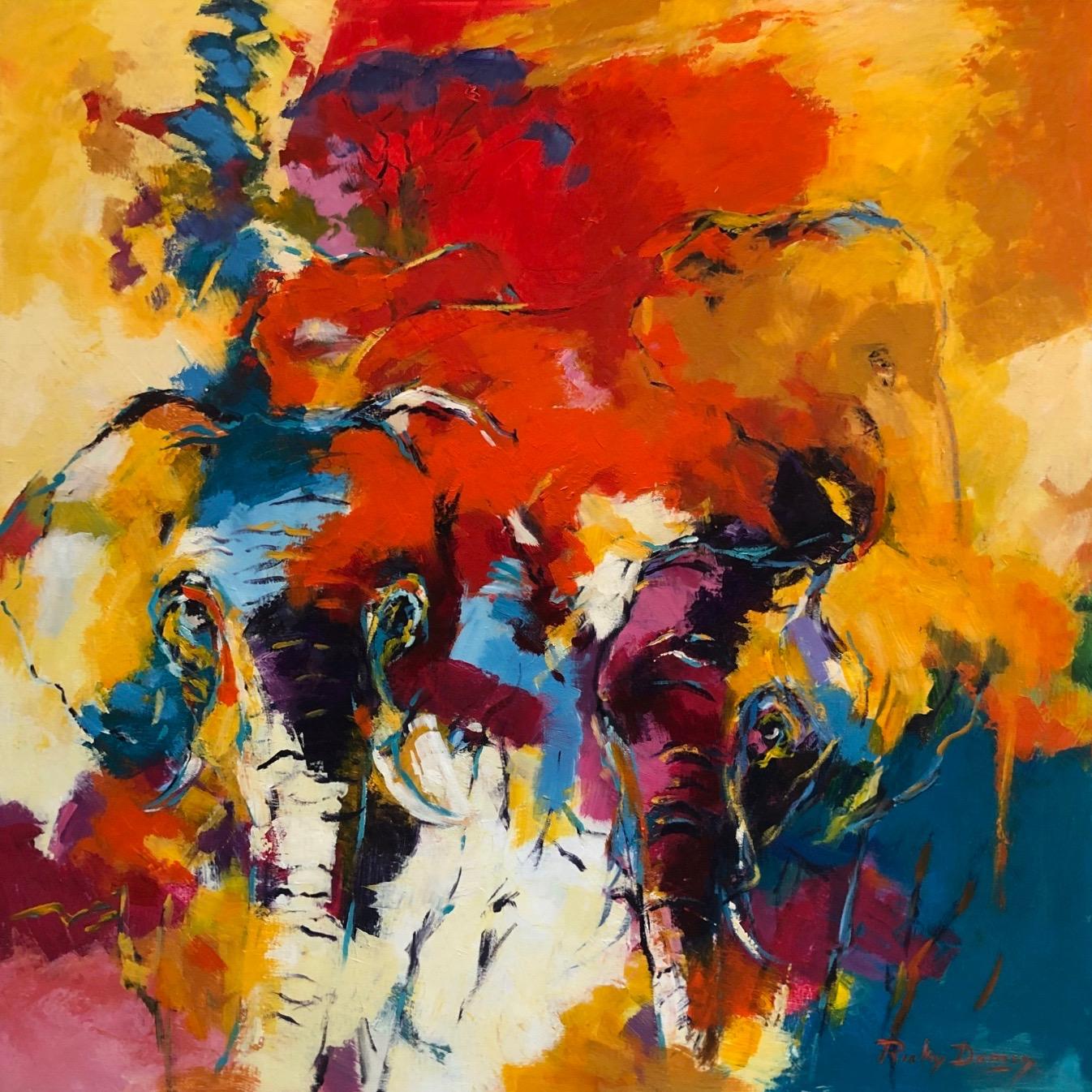 Ricky Damen schilderij 'Hidden Elie's'