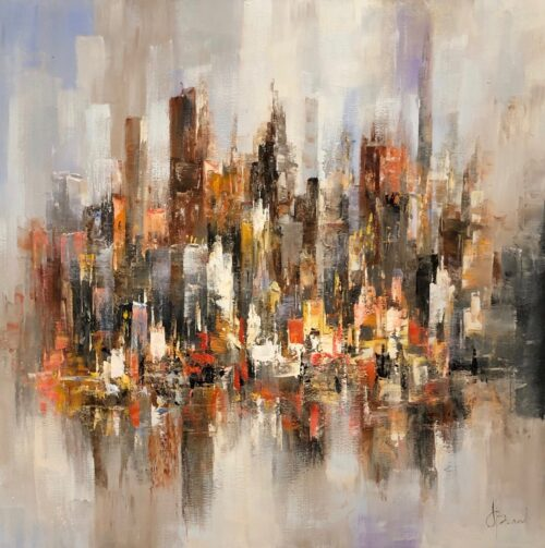 Henry Brand schilderij 'Abstract City'