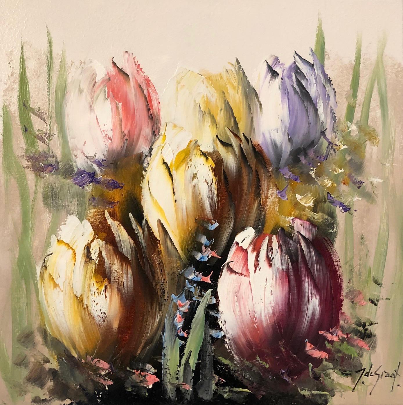 Jochem de Graaf schilderij 'Tulpen I'