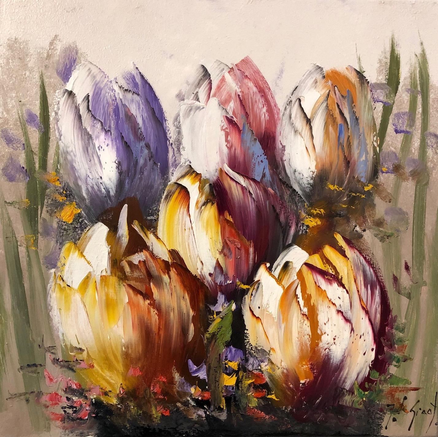 Jochem de Graaf schilderij 'Tulpen II'