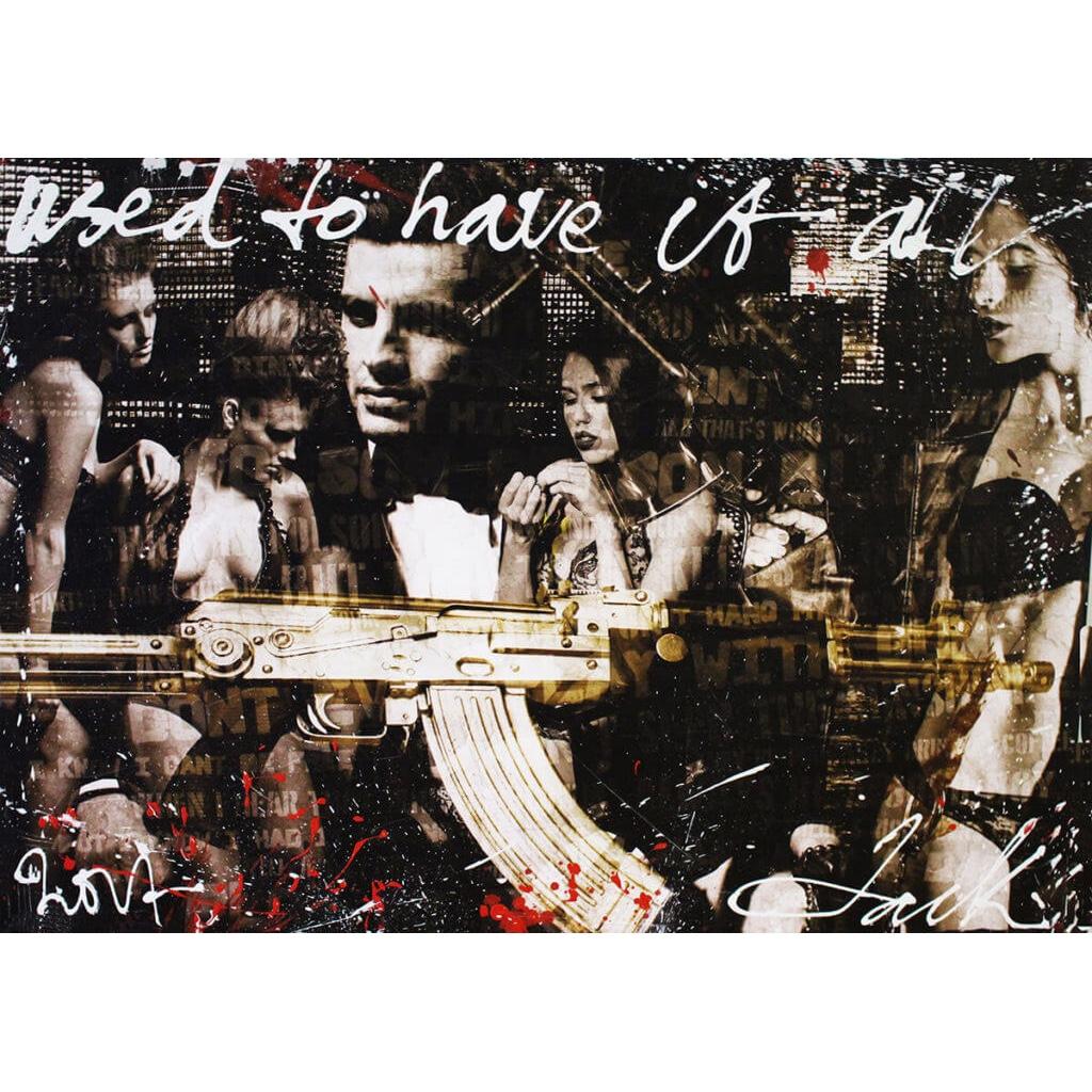 Jack Liemburg schilderij 'Weapons and girls I'