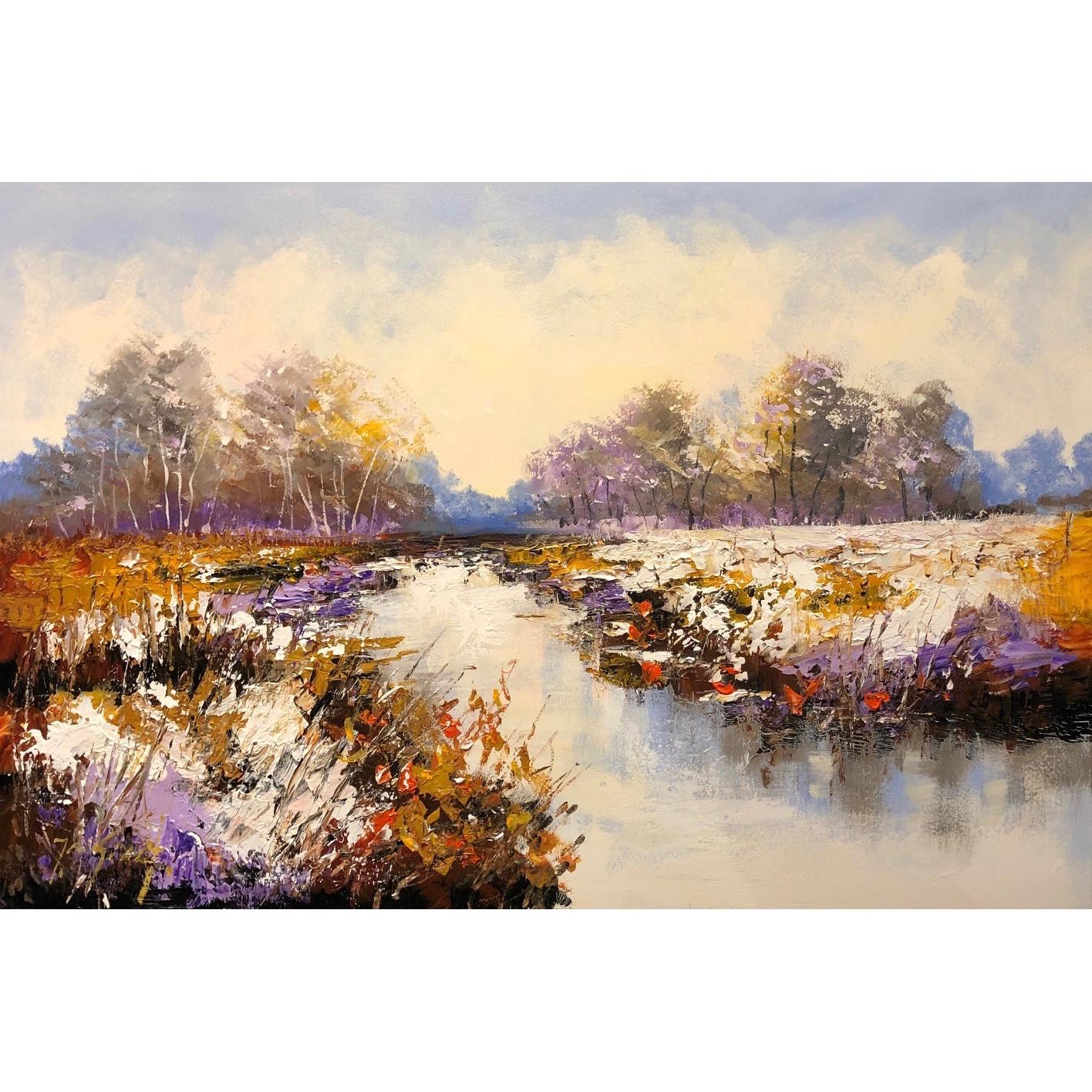 Jochem de Graaf schilderij 'Winterlandschap'