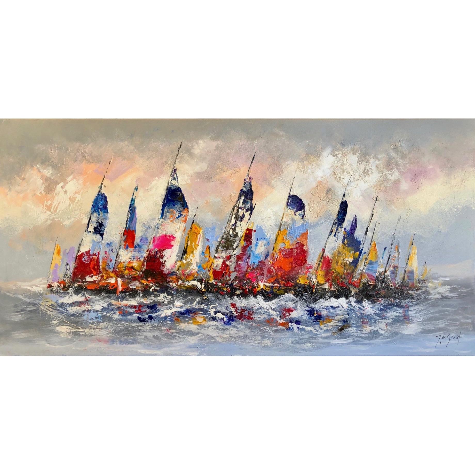 Jochem de Graaf schilderij 'Zeil Regatta'