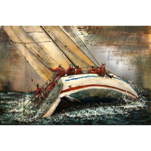 Metal Art 3D schilderij 'Zeilboot'