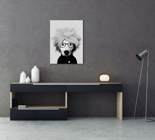 Foto op glas 'Andy Warhol'