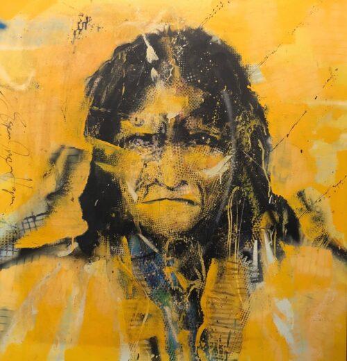 Espen Hagen origineel schilderij 'Indiaan I'