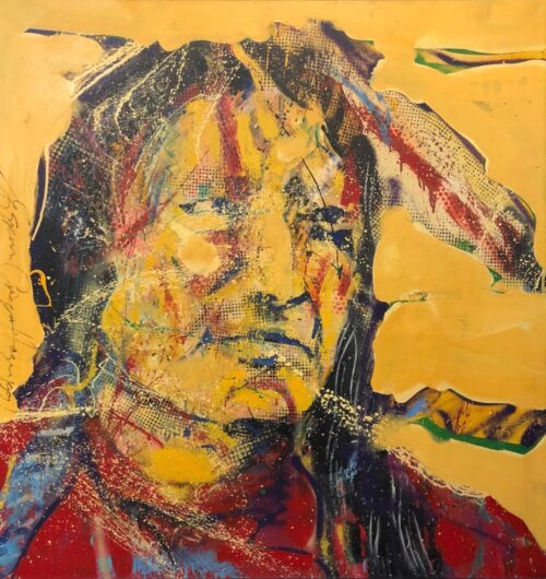 Espen Hagen origineel schilderij 'Indiaan II'