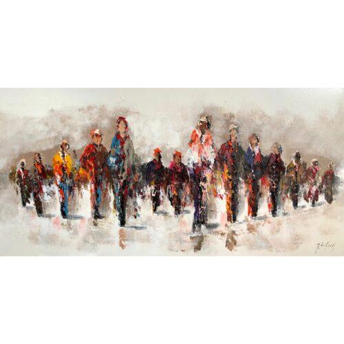 Jochem de Graaf schilderij 'Sunday walk'