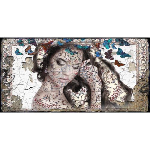 Hans Jochem Bakker schilderij 'The blue Butterfly I'