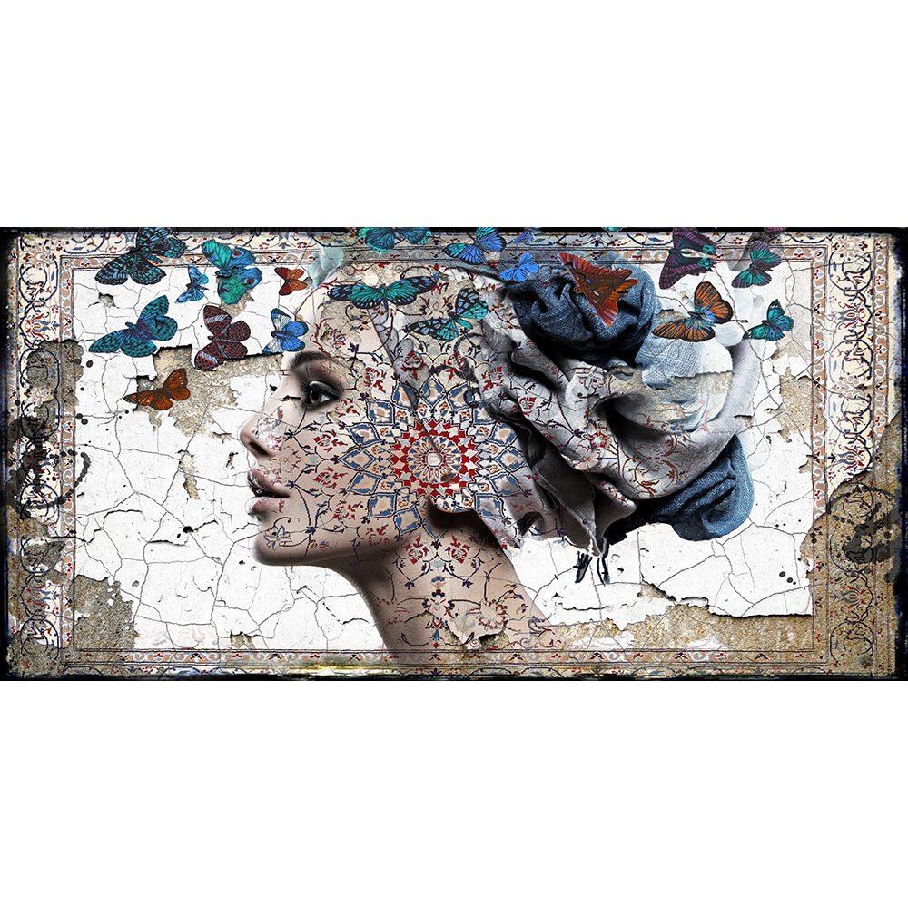 Hans Jochem Bakker schilderij 'The blue Butterfly II'
