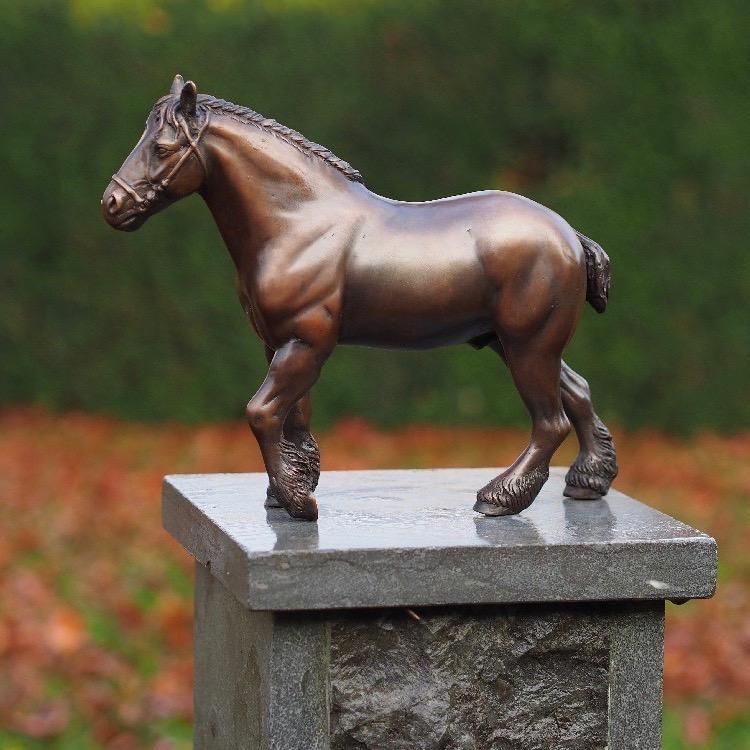 Bronzartes bronzen beeld 'Belgisch Trekpaard'
