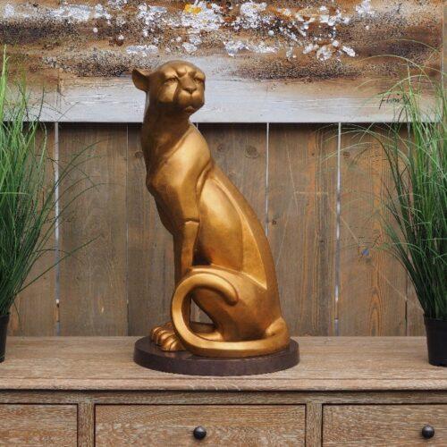 Bronzartes bronzen beeld 'Jachtluipaard I'