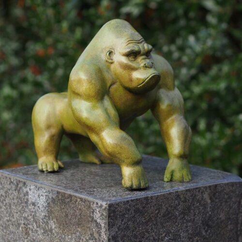 Bronzartes bronzen beeld 'Gorilla'