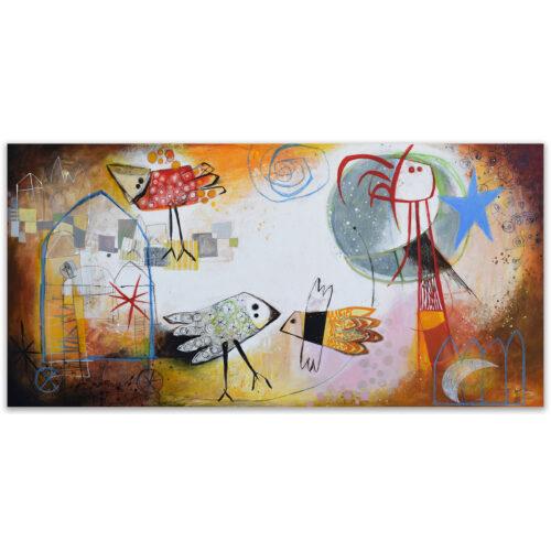 Angeles Nieto schilderij 'La dia del sol'