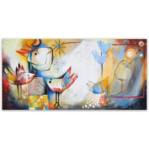 Angeles Nieto schilderij 'Nos Encontramos'
