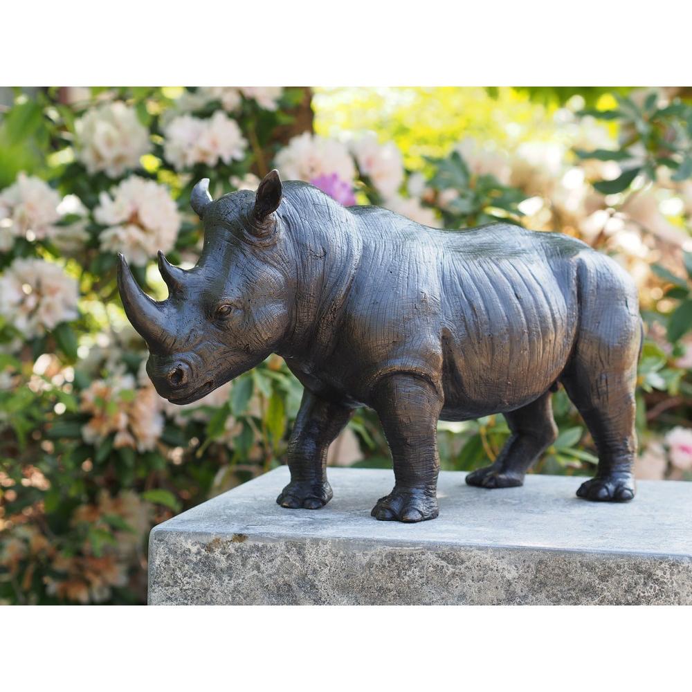 Bronzartes bronzen beeld 'Rhino'