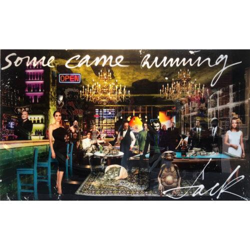 Jack Liemburg schilderij 'Some came running'