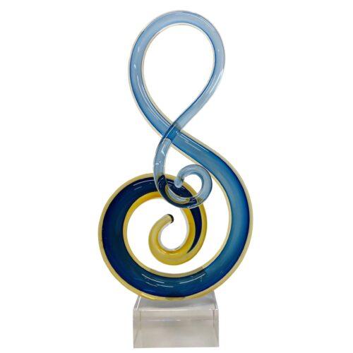 Design glas beeld 'Muzieknoot II'