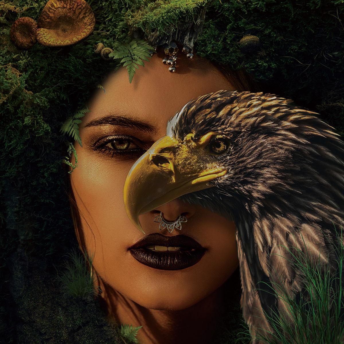 Foto op glas 'Eagle Eye'