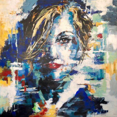 Ricky Damen schilderij 'Confident'