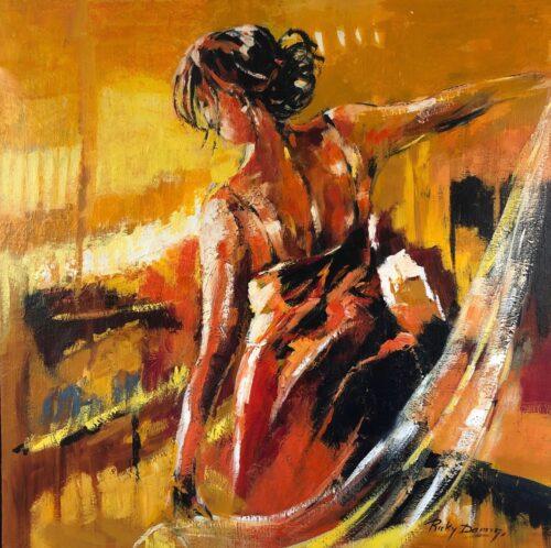 Ricky Damen schilderij 'Freedom'