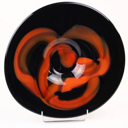Loranto glas schaal 'Zwart Oranje'