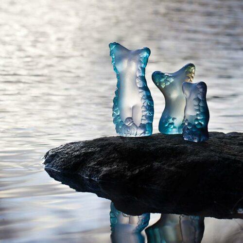 Målerås kristalglas 'Venus blue'