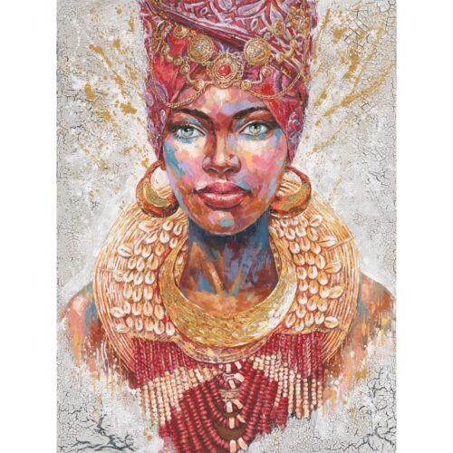 Schilderij 'Beauty with turban III'