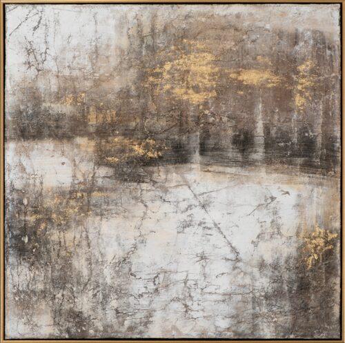Schilderij 'Abstract in brown and gold II'