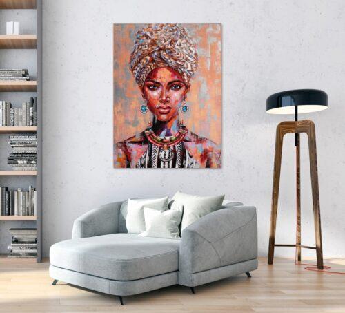 Schilderij 'African beauty I'