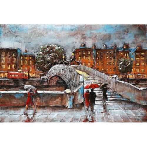 Metal Art 3D schilderij 'Bridge in London'