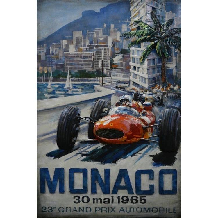 Metal Art 3D schilderij 'Grand Prix Monaco'